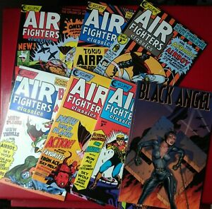 Air Fighters Classics lot 1-6 + Black Angel TPB complete Eclipse Comics