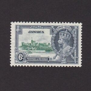 JAMAICA 1935, SG# 116, Silver Jubilee, architecture, part set, MLH