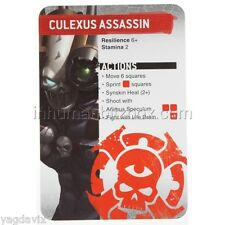 SAS07 CULEXUS REFERENCE CARD ASSASSINORUM WARHAMMER 40,000 BITZ W40K
