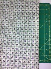 Debbie Mumm Fabric Lavender Fields Purple Flowers In Cream Squares 5 Yards 16 In
