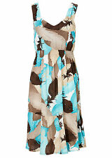 Ärmellose Mini-Damenkleider mit V-Ausschnitt aus Viskose
