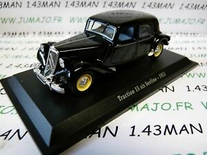 TRA63 voiture 1/43 atlas traction NOREV :  traction 15 six D 1949
