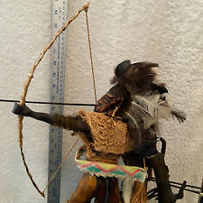DETAILED HAND MADE / CARVED,  SOUTH AMERICAN NATIVE BRAZILIAN  ARCHER  .