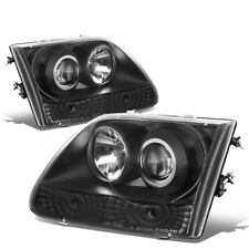 Fit 1997-2004 Ford F150/F250/Expedition Black Housing Blue Projector Headlight