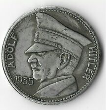 Rare German Leader Coin WWII Germany 5 Reichsmark Eagle Collection Token NICE!!!