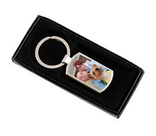 Photo Keyring Personalised With Picture Keychain Comes With Gift box
