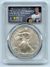 1996 $1 American Silver Eagle Dollar 1oz PCGS MS70 Fred Haise