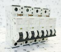 ~230//400V LEITUNGSSCHUTZSCHALTER set of 4 4x SIEMENS 5SX21 C10