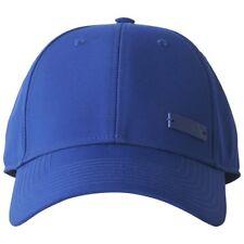 adidas Mens Baseball Cap Womens Hats 6 Panel Metal Unisex Black White Large Metal-blue