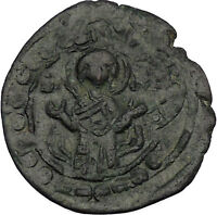 JESUS CHRIST Class K Anonymous Virgin1081AD CRUSADE Byzantine Follis Coin i53112