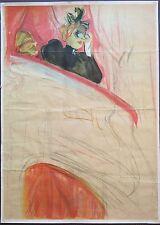 Farblithographie, Henri de Toulouse-Lautrec, Manifesto del 1930, 94cm x 68cm