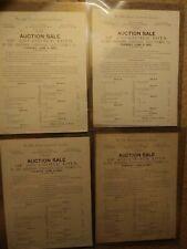 Vintage Falls Church Improvement auction sale blocks A-N price list Lot of 4
