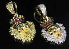 Collares y colgantes de bisutería de piedra de oro amarillo