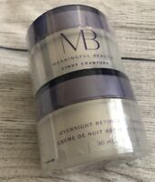 (2) MB Meaningful Beauty Overnight Retinol Repairing Creme Sealed Cindy Crawford