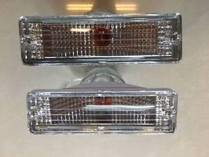 Crystal pair front bumper turn signal light for 86-97 Nissan Navara D21 Hardbody