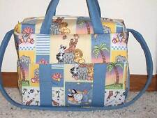 Bazooples Zoo Animals custom handmade Diaper Bag by EMIJANE free embroidery