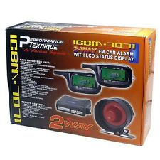 2-WAY LCD PAGERS CAR ALARM SYSTEM w/REMOTE ENGINE START