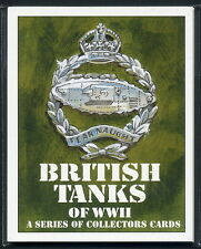 BRITISH TANKS of WW2 II  Collectors Card Set - Crusader Comet Churchill Cromwell