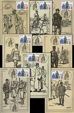 """Set 8 Maxi cards """"French Generals / 90 years Armistice Great War 1914-1918"""" 2008"""