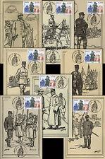 """Série 8 CM """"Généraux français - 90 ans Armistice Grande Guerre 1914-1918"""" 2008"""