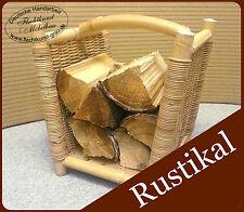 Rustikal Kaminholzkorb Holzkorb Brennholzkorb Kaminkorb Rattankorb aus Rattan