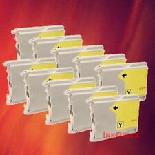 10 LC51Y LC51 YELLOW INK FOR BROTHER DCP-130C 330C 350C