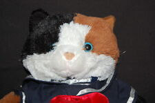 Calico Kitty Cat Sailor Brown Black White Plush 15� Bear Factory Toy Lovey