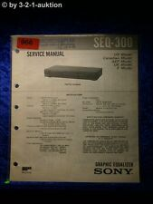 Sony Service Manual SEQ 300 Graphic Equalizer  (#0966)