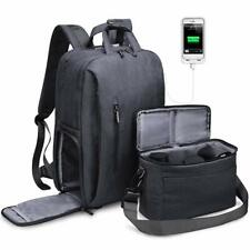 Multipurpose Backpack DSLR Camera Bag Case with 15.6 inch Laptop Compartment
