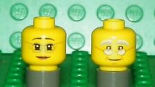 LEGO - Minifig, Head w/ Glasses - Female / Grandma & Male / Grandpa - Yellow