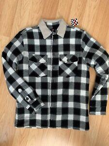 Lumberjacket Winter Jacke Hemd Holzfällerhemd Teddyfell von NewYorker Gr.M