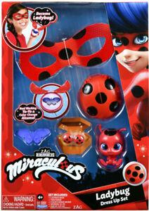 Official Miraculous Ladybug Dress Up Role Play Set - Mask - Earrings - Yo Yo Toy