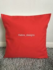 """1 NEW 12"""" PLAIN BRIGHT RED COTTON CUSHION COVER OTHER COLOURS SIZES AVAILABLE"""