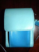 Swing Digital Camera Case Two Tone Blue Long Shoulder Strap Wristlet Waist Clip