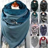 Winter Fashion Scarf for Women Soft Button Casual Wrap Warm Scarves Shawls Scarf