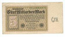 GERMANY REICHSBANKNOTE 5 BILLION MARK BERLIN 1923