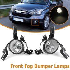 Front Bumper Clear Fog Light Lamps w/ H11 Bulbs For Honda CR-V CRV 2007-2009