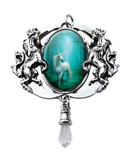 Anne Stokes Forest Unicorn Cameo Unicorn Pendant