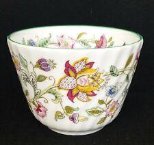 Minton Haddon Hall Bone China Sugar Bowl Green Rim - 1st Quality Brand New