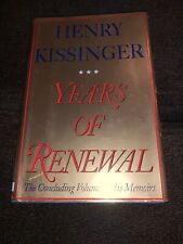 "Secretary of State HENRY KISSINGER ""Years of Renewal"" SIGNED AUTOGRAPHED BOOK"