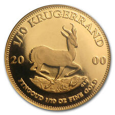 2000 South Africa 1/10 oz Proof Gold Krugerrand - SKU #49653