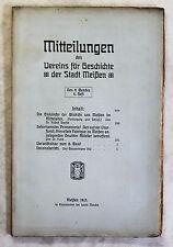 Mitteilungen Verein für Geschichte Meißen 8.Bd 1913 Porzellan Ortskunde Sachsen
