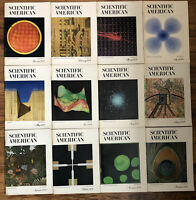 Lot of 12 Scientific American Magazines 1970 Complete Full Year Jan-Dec