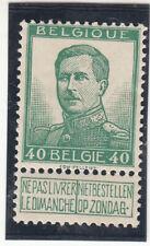 Belgium 1912. King Albert I. Green. 40c. Sc #98 Mh