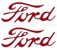 FORD 1947 1948 1949 1950 1951 1952 8N TRACTOR Red Ford Script Hood Decals 1 pair