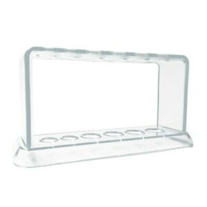 Plastic Clear Test Tube Rack 6 Holes Stand Lab Test Tube Stand Shelf School K4Y8