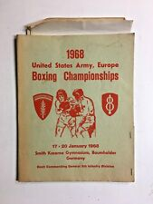 Vintage VTG 1968 US ARMY Boxing Championships Program Registration Info Folder