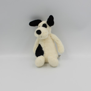 Doudou chien blanc noir JELLYCAT 20 cm - Chien, Loup, Renard Classique