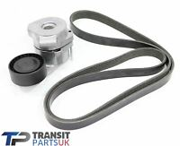 TRANSIT MK7 MK8 2.2 FWD DRIVE BELT AND TENSIONER 2006 ON FWD TDCi WITH AIR CON