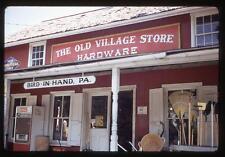Vintage 1971 Slide Photo Old Village Hardware Store BIRD IN HAND PA Coke Machine